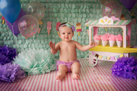 Brylee 1 year cake smash